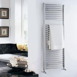 Curved Chrome Towel Radiator 1100x600mm