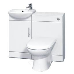 Alaska 950mm Gloss White Slim Toilet/Basin Unit Pack