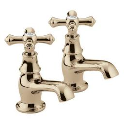 Bristan Colonial Basin Taps- Gold