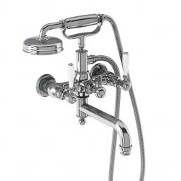 Burlington Arcade Bath shower mixer wall-mounted - chrome with ceramic lever