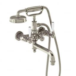 Burlington Arcade Bath shower mixer wall-mounted - nickel with ceramic lever
