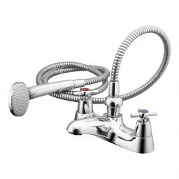 Ideal Standard Elements Bath Shower Mixer With Crosshead Handles