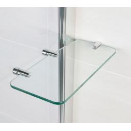 Identiti Square Bath Screen with Rail & Shelf