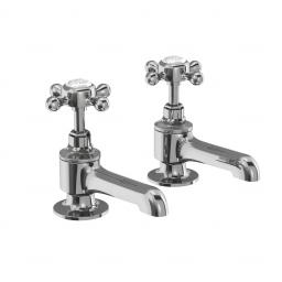Burlington Stafford bath pillar taps (including the handles)