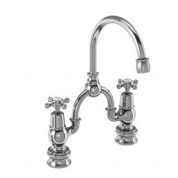 Burlington 2 tap hole arch mixer with curved spout (200mm centres)