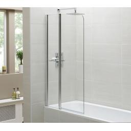 Identiti Curved Bath Screen & Shelf