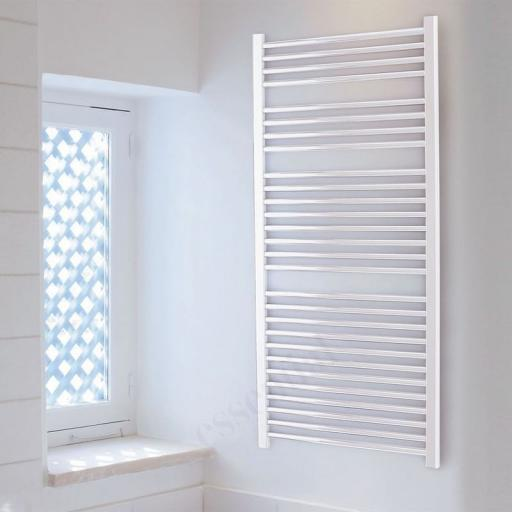 Straight White Towel Radiator 1430x600mm