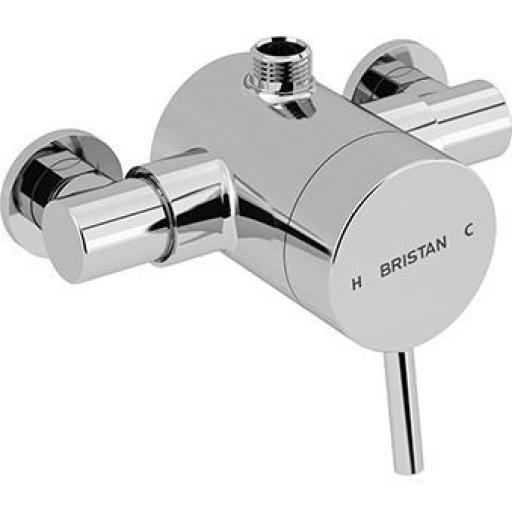 Bristan Prism Thermostatic Exposed Single Control Shower Valve (Top Outlet)