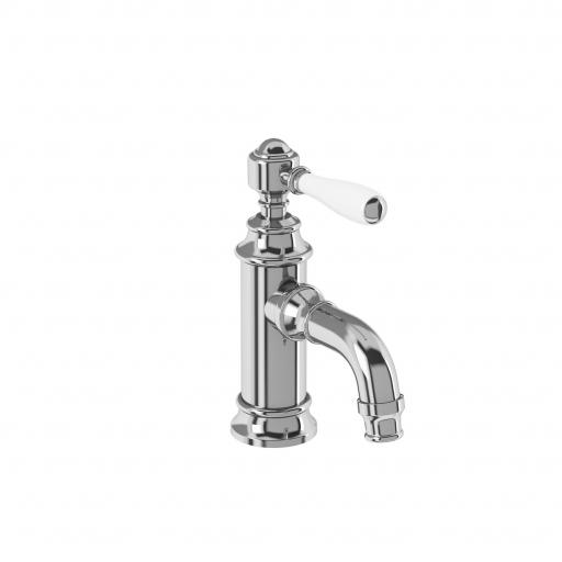 Burlington Arcade Mini single-lever basin mixer without pop up waste - chrome - with ceramic lever