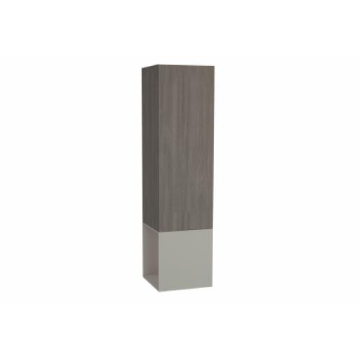 Vitra Frame Tall Unit, with Open Box, 40 cm, Matte Taupe, Left