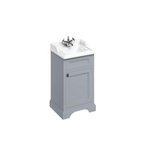 Burlington Freestanding 50cm basin unit with door - Classic Grey