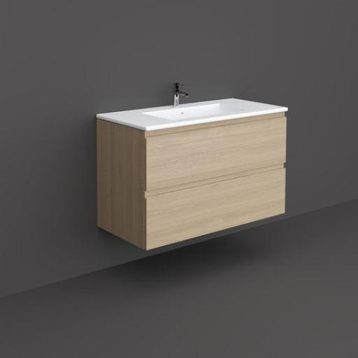 RAK Joy Wall Hung Vanity Unit 100cm Scandinavian Oak