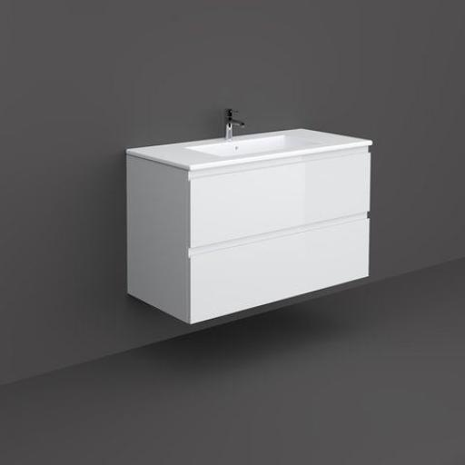 RAK Joy Wall Hung Vanity Unit 100cm Pure White