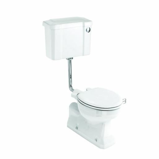 Burlington S trap low level WC with 520 front push button cistern