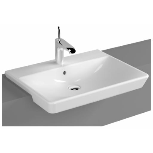 Vitra T4 Semi-Recessed Washbasin, 60 cm