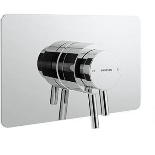 Bristan Prism Thermostatic Recessed Dual Control Shower Valve