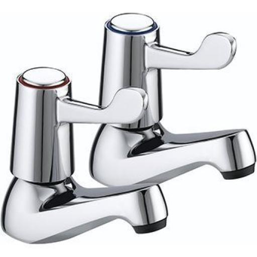 "Bristan Lever Basin Taps With 3"" Levers"