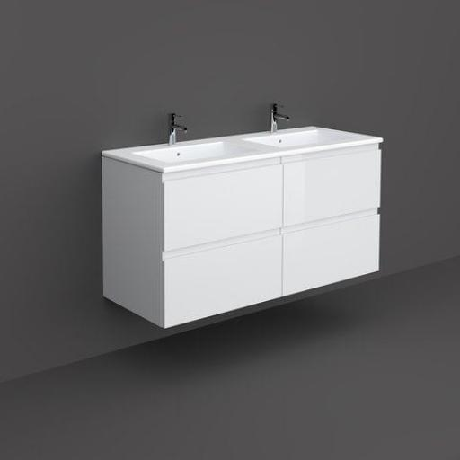 RAK Joy Wall Hung Vanity Unit 120CM Pure White
