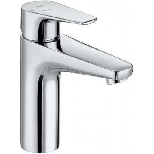 Roca Atlas Medium Height Smooth Body Basin Mixer + PUW