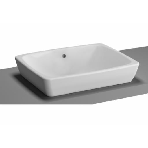 Vitra M-Line Countertop Washbasin, No Overflow Hole, 50 cm