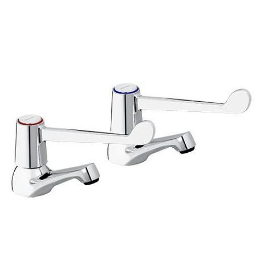 "Bristan Lever Basin Taps With 6"" Lever"