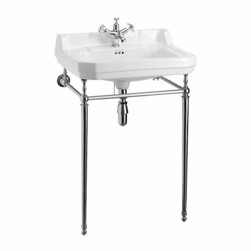 Burlington Edwardian 61cm basin with basin stand 1TH