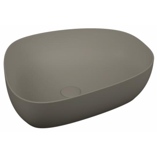 Vitra Outline Pebble Bowl Washbasin, Matte Mink