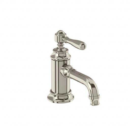 Burlington Arcade Single-lever basin mixer without pop up waste - nickel - with brass lever