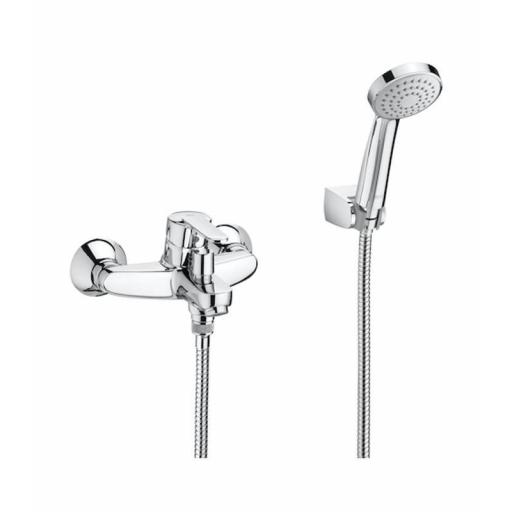 Roca Victoria Wall-Mounted Bath Shower Mixer + Kit