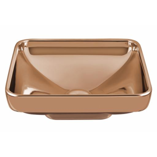 Vitra Water Jewels Square Bowl, 40 cm, Copper