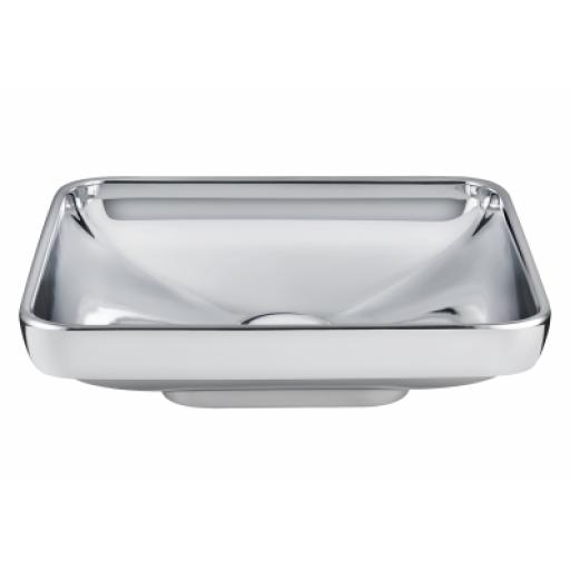 Vitra Water Jewels Rectangular Bowl, 60 cm, Platinum