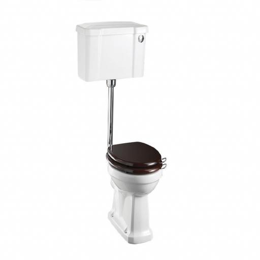 Burlington Standard low level WC with 520 front push button cistern
