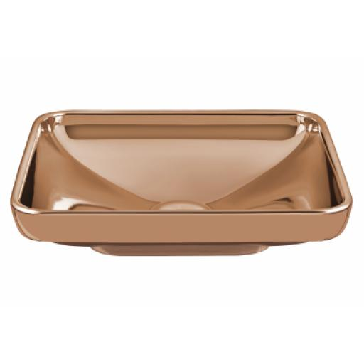 Vitra Water Jewels Rectangular Bowl, 60 cm, Copper