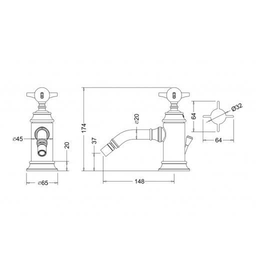 https://www.homeritebathrooms.co.uk/content/images/thumbs/0010240_burlington-arcade-single-black-lever-bidet-mixer-with-
