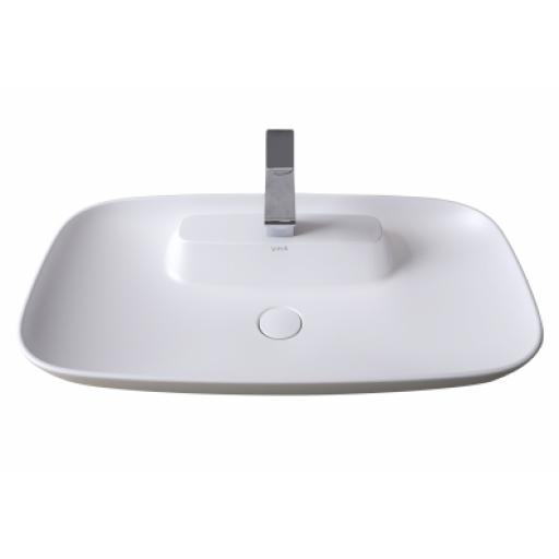 Vitra Memoria Rectangular Bowl, 85 cm, Matt White
