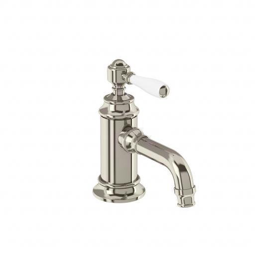 Burlington Arcade Single-lever basin mixer without pop up waste - nickel - with ceramic lever