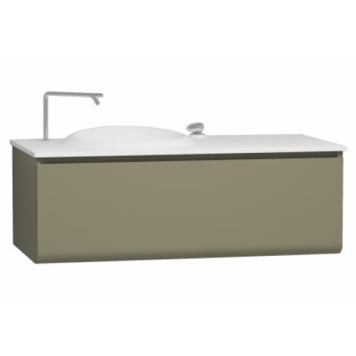 Vitra Istanbul Washbasin Unit, Including Infinit Washbasin, 120 cm, Olive Green