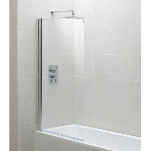 Identiti Curved Bath Screen