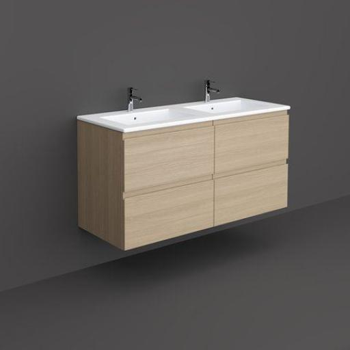 RAK Joy Wall Hung Vanity Unit 120cm Scandinavian Oak