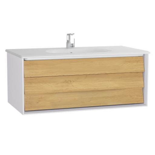 Vitra Frame Washbasin Unit, with 1 drawer, 100 cm, with white washbasin, Matte White