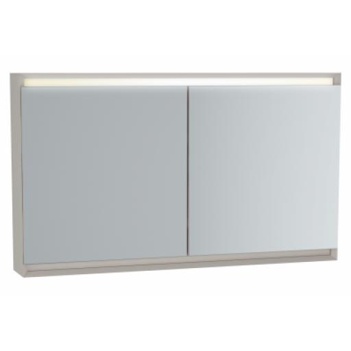 Vitra Frame Mirror Cabinet 120 cm, Matte Taupe