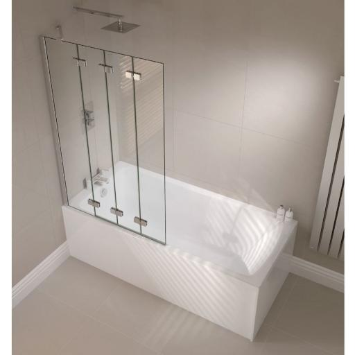 Prestige Frameless 4 Panel Bath Screen