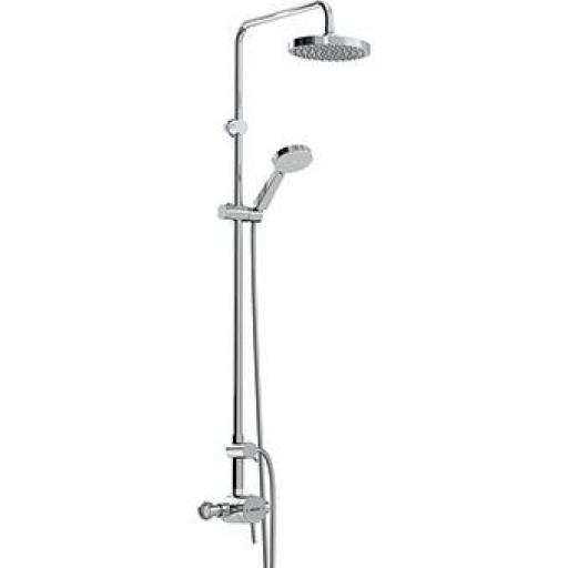 Bristan Prism Thermostatic Exposed Single Control Shower Valve With Diverter And Rigid Riser Kit
