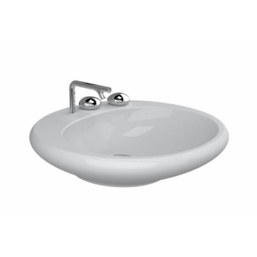 Vitra Istanbul Countertop Washbasin, Flat, 60 cm, White