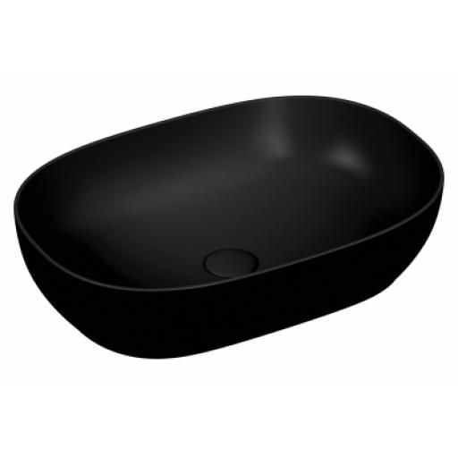 Vitra Outline Oval Bowl Washbasin, Matte Black