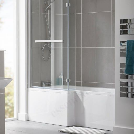 Kensington 1500x700/850mm NTH Shower Bath Pack