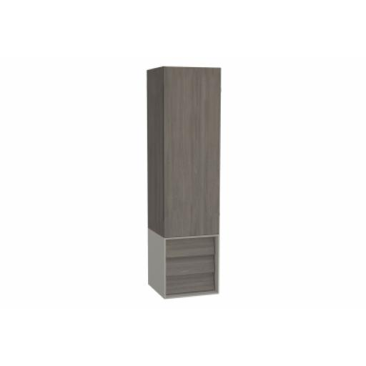 Vitra Frame Tall Unit, with Drawer Unit, 40 cm, Matte Taupe, Left