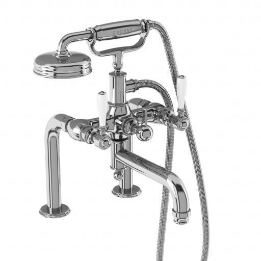 Burlington Arcade Bath shower mixer deck-mounted - chrome with ceramic lever