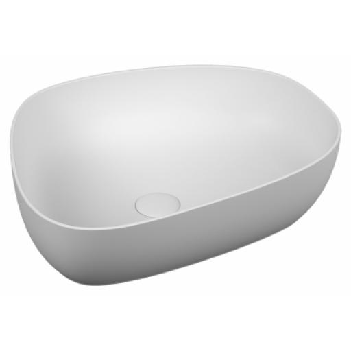 Vitra Outline Pebble Bowl Washbasin, Matt. White