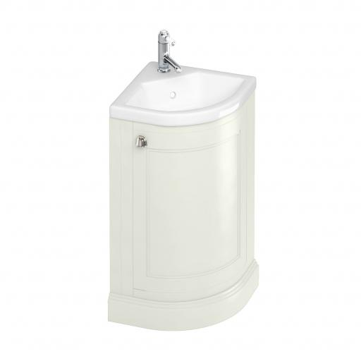 Burlington Freestanding 43cm Corner Vanity Unit - Sand